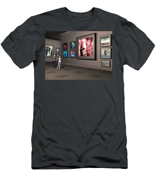 Men's T-Shirt (Slim Fit) featuring the digital art The Old Museum by John Alexander