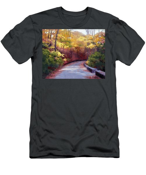 Men's T-Shirt (Slim Fit) featuring the painting The Old Roadway In Autumn II by Janet King