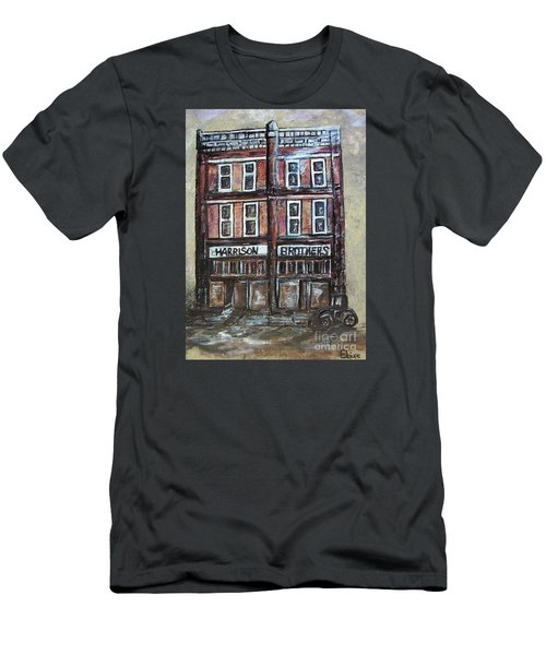 Men's T-Shirt (Slim Fit) featuring the painting The Old Store by Eloise Schneider