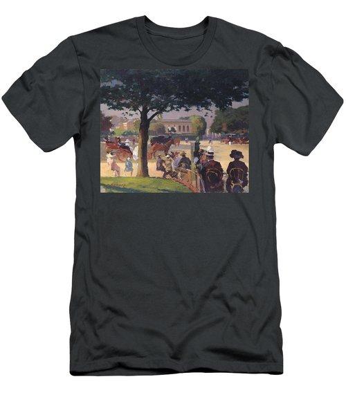The Palais Rose, Paris Oil On Canvas Men's T-Shirt (Athletic Fit)