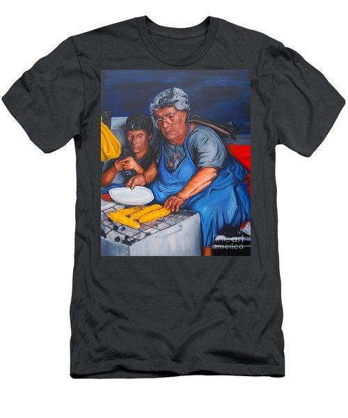 The Parga Corn Seller Men's T-Shirt (Athletic Fit)