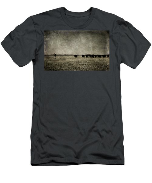 Men's T-Shirt (Slim Fit) featuring the photograph The Pied Piper Of Angustown by Cynthia Lassiter