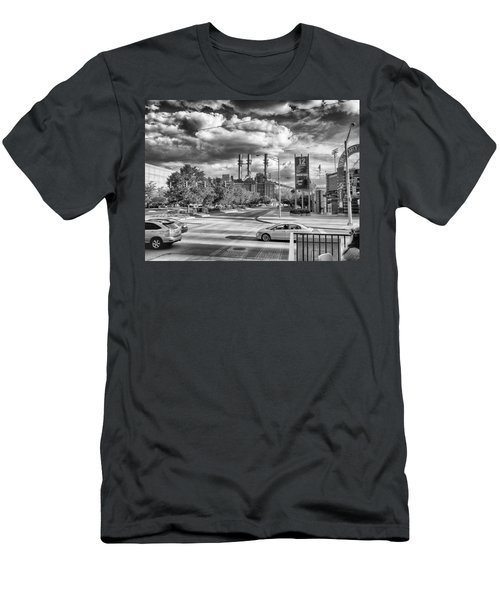 Men's T-Shirt (Slim Fit) featuring the photograph The Power Station by Howard Salmon