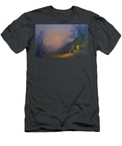 A Hobbits Halloween. The Pumpkin Seller. Men's T-Shirt (Slim Fit) by Joe Gilronan