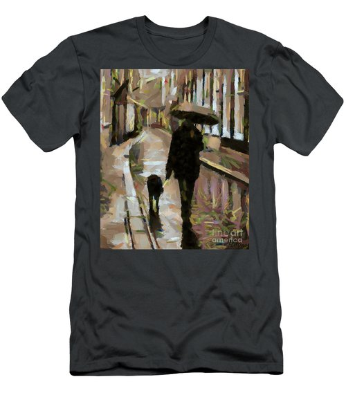 The Rainy Walk Men's T-Shirt (Athletic Fit)