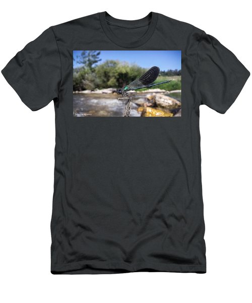 Men's T-Shirt (Athletic Fit) featuring the photograph The River Dragonfly by Stwayne Keubrick