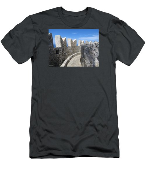 Men's T-Shirt (Slim Fit) featuring the photograph The Rocks And The Path by Ramona Matei