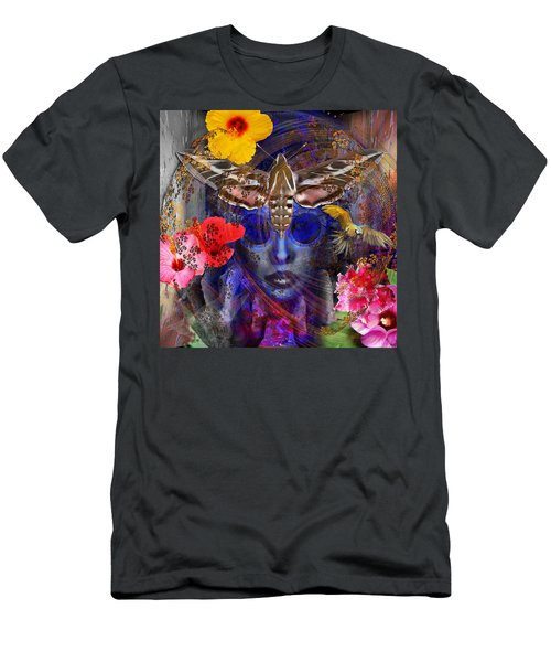 The Search For Hibiscus Life Men's T-Shirt (Slim Fit) by Joseph Mosley