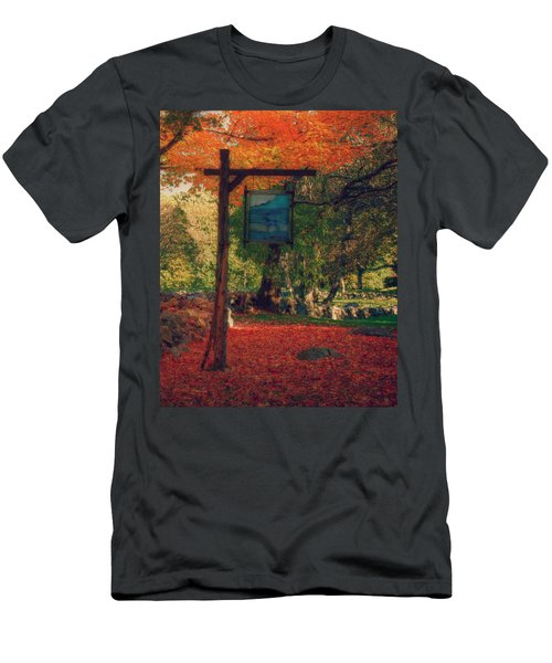 Men's T-Shirt (Slim Fit) featuring the photograph The Sign Of Fall Colors by Jeff Folger