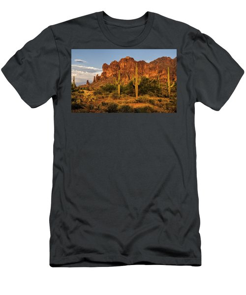 The Superstitions At Sunset  Men's T-Shirt (Athletic Fit)