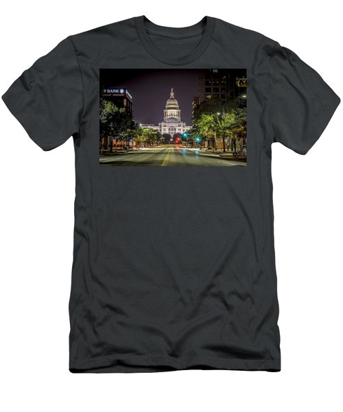 The Texas Capitol Building Men's T-Shirt (Slim Fit) by David Morefield