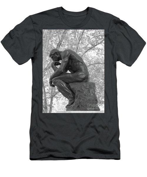 The Thinker - Philadelphia Bw Men's T-Shirt (Athletic Fit)