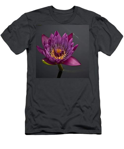 The Tiny Dragonfly On A Water Lily Men's T-Shirt (Athletic Fit)