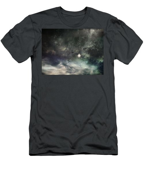 Men's T-Shirt (Slim Fit) featuring the photograph The Universe by Cynthia Lassiter