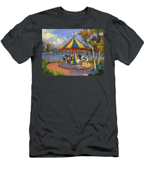The Village Carousel At Lake Arrowhead Men's T-Shirt (Athletic Fit)