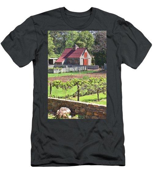 The Vineyard Barn Men's T-Shirt (Slim Fit) by Gordon Elwell