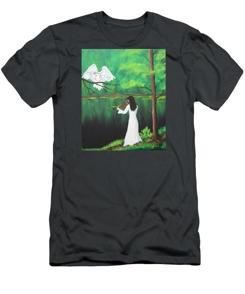 The Violinist By The River   Men's T-Shirt (Athletic Fit)