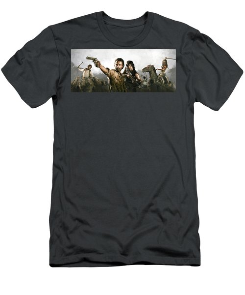 The Walking Dead Artwork 1 Men's T-Shirt (Athletic Fit)