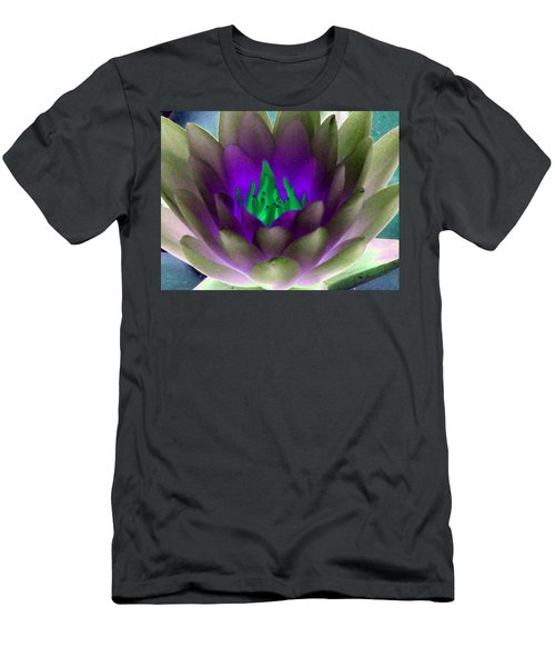 Men's T-Shirt (Slim Fit) featuring the photograph The Water Lilies Collection - Photopower 1117 by Pamela Critchlow