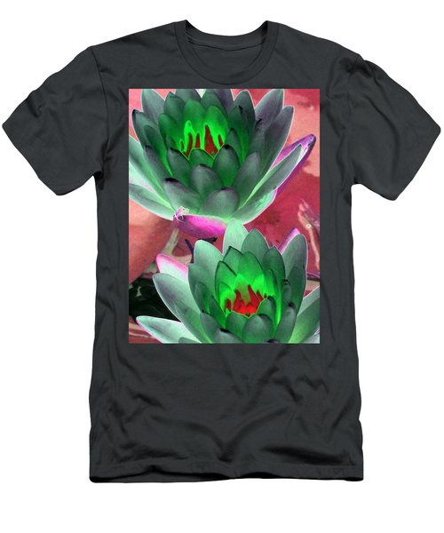 Men's T-Shirt (Slim Fit) featuring the photograph The Water Lilies Collection - Photopower 1121 by Pamela Critchlow
