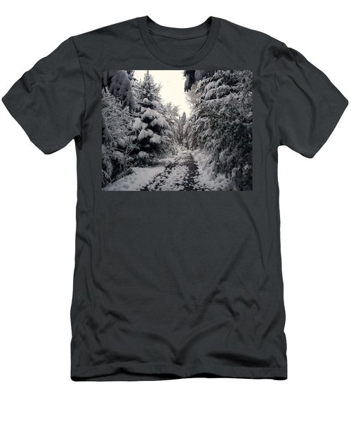 Men's T-Shirt (Slim Fit) featuring the photograph The Way In Snow by Felicia Tica