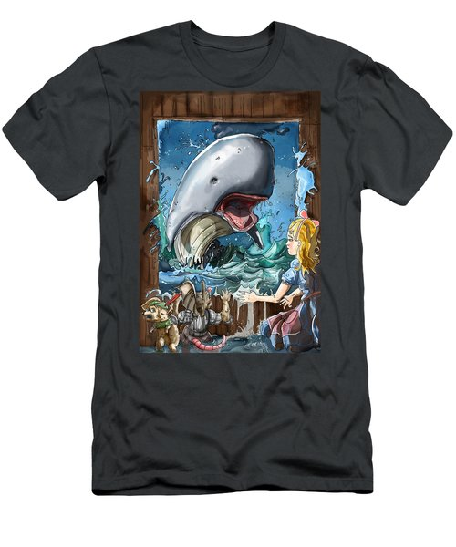 Men's T-Shirt (Slim Fit) featuring the painting The Whale by Reynold Jay