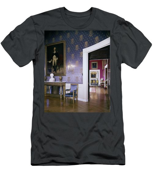 The White House Blue Room Men's T-Shirt (Athletic Fit)