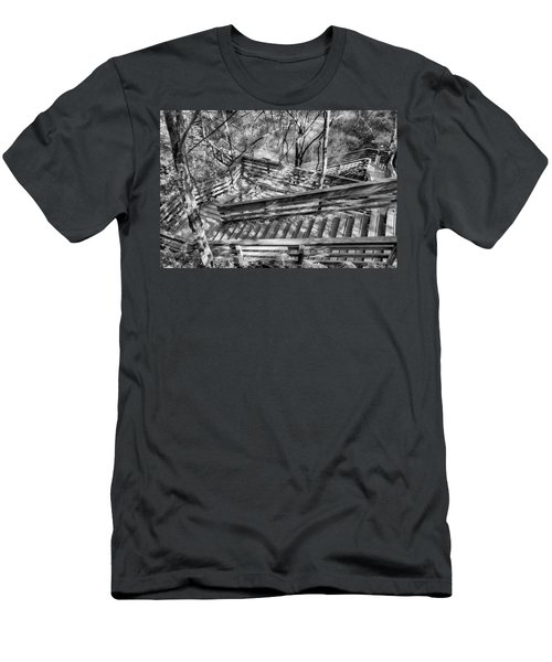 Men's T-Shirt (Athletic Fit) featuring the photograph The Winding Stairs by Howard Salmon