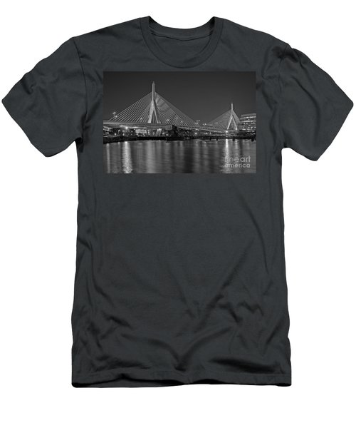 The Zakim Bridge Bw Men's T-Shirt (Athletic Fit)