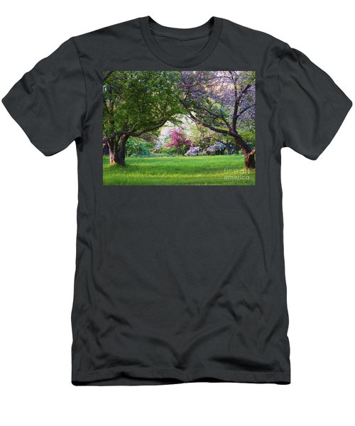 Men's T-Shirt (Slim Fit) featuring the photograph There Is No Place Like Spring by Judy Via-Wolff