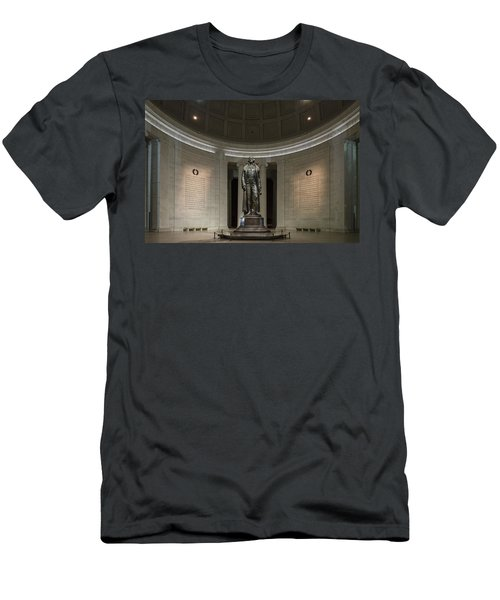 Men's T-Shirt (Slim Fit) featuring the photograph Thomas Jefferson Memorial At Night by Sebastian Musial