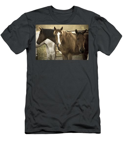 Men's T-Shirt (Slim Fit) featuring the photograph Three Amigos by Steven Bateson
