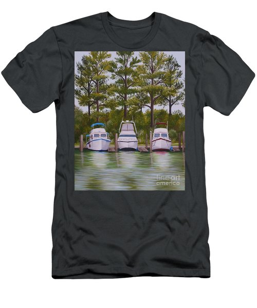 Three Boats Men's T-Shirt (Athletic Fit)