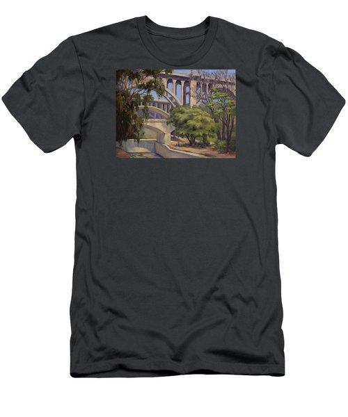 Three Bridges Men's T-Shirt (Slim Fit) by Jane Thorpe