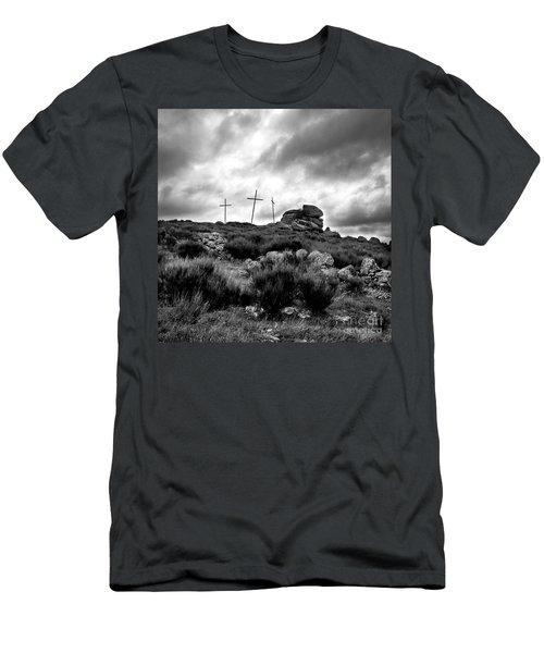 Three Crosses Men's T-Shirt (Athletic Fit)