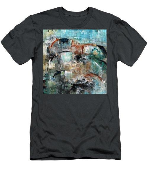 Three Running Horses Men's T-Shirt (Athletic Fit)