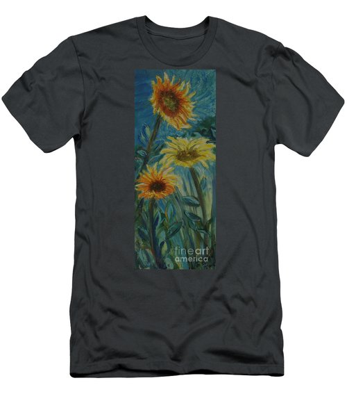 Three Sunflowers - Sold Men's T-Shirt (Athletic Fit)