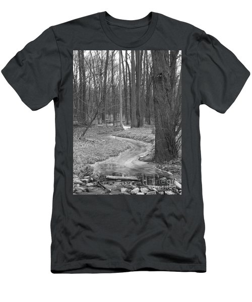 Through The Woods Men's T-Shirt (Slim Fit) by Sara  Raber