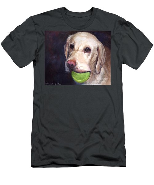 Throw The Ball Men's T-Shirt (Slim Fit) by Molly Poole
