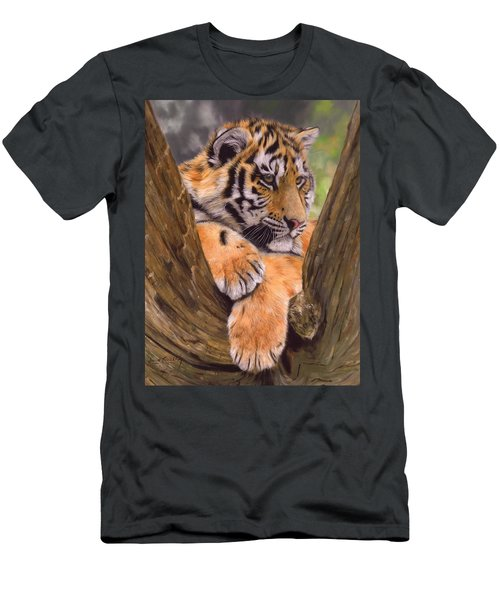 Tiger Cub Painting Men's T-Shirt (Athletic Fit)