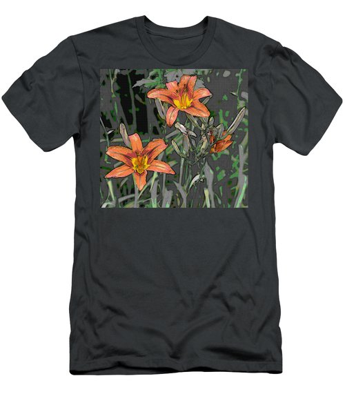 Tiger Lilies Of Canvas Men's T-Shirt (Athletic Fit)