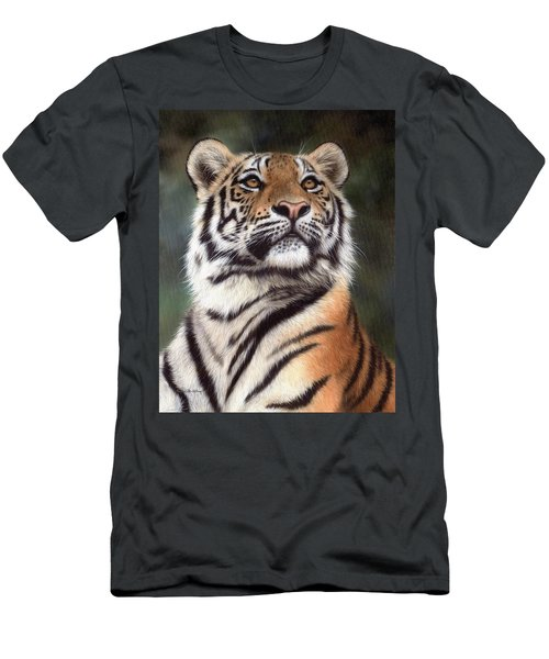 Tiger Painting Men's T-Shirt (Athletic Fit)
