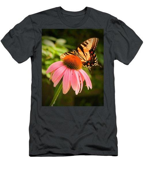 Tiger Swallowtail Feeding Men's T-Shirt (Athletic Fit)