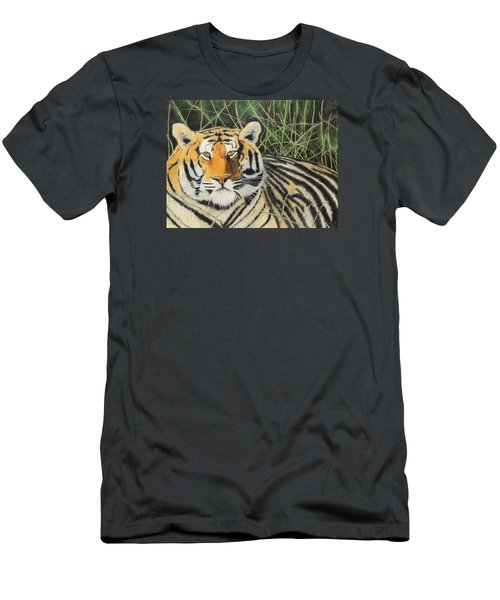 Men's T-Shirt (Slim Fit) featuring the painting Tigress by Jeanne Fischer