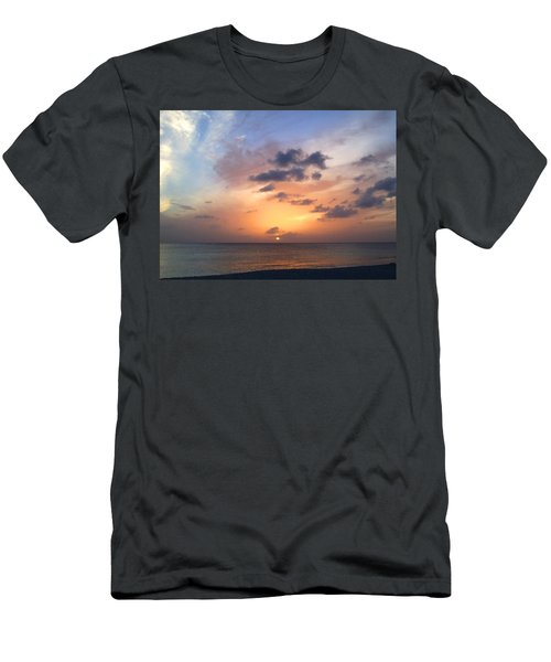 Tiki Beach Caribbean Sunset Men's T-Shirt (Athletic Fit)