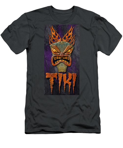 Men's T-Shirt (Slim Fit) featuring the photograph Tiki by WB Johnston