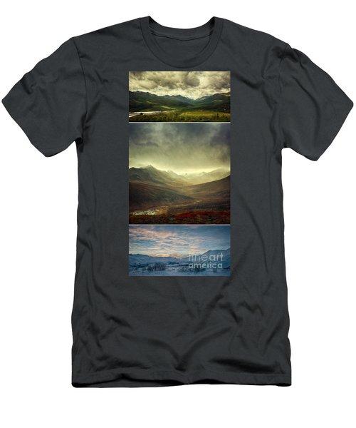 Tombstone Range Seasons Vertical Men's T-Shirt (Athletic Fit)