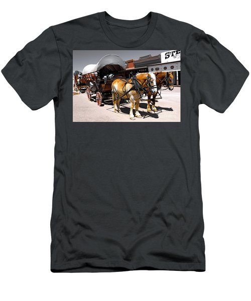 Tombstone Wagon Men's T-Shirt (Athletic Fit)