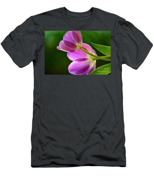 Topsy-turvy Tulips Men's T-Shirt (Athletic Fit)