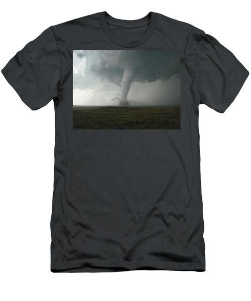 Men's T-Shirt (Slim Fit) featuring the photograph Tornado In The High Plains by Ed Sweeney